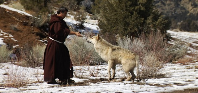 St. Francis taming the wolf